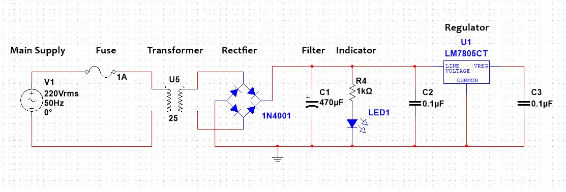 Design 5V 500mA power supply