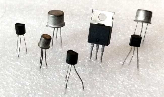 Some real transistors in different shapes