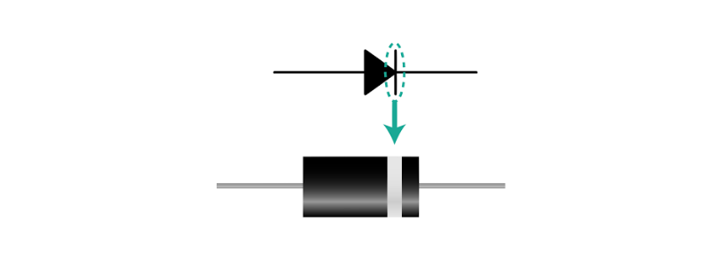 physical diode symbol