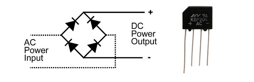 rectifier circuit with symbol