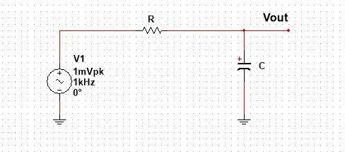Low pass filter, Series RC circuit