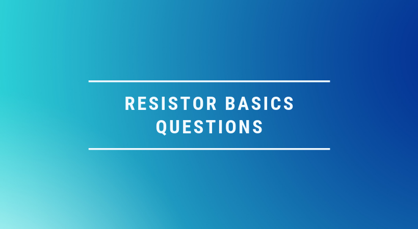 resistor questions and their answers