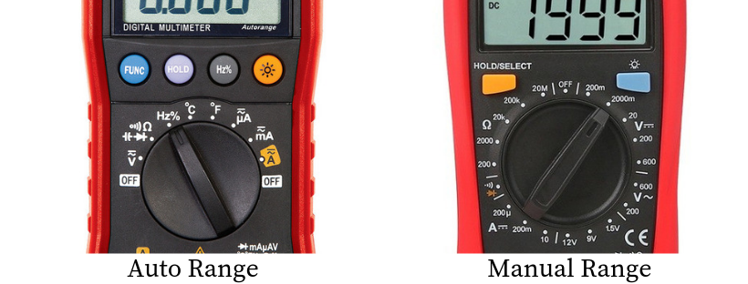 Auto Range Vs manual Range multimeter