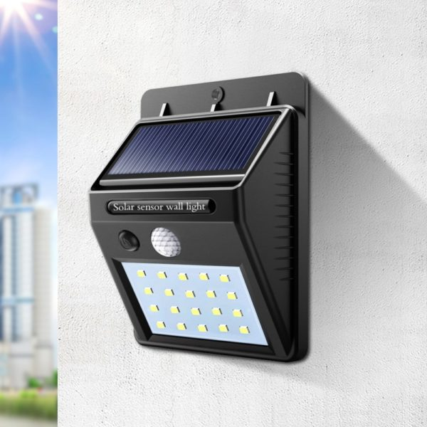 motion sensor solar powered outdoor lamp